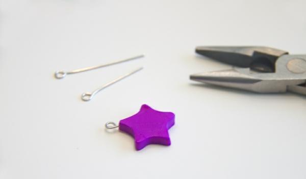 Freundschaftsketten basteln Anleitung Polymer Clay Sterne Werkzeuge