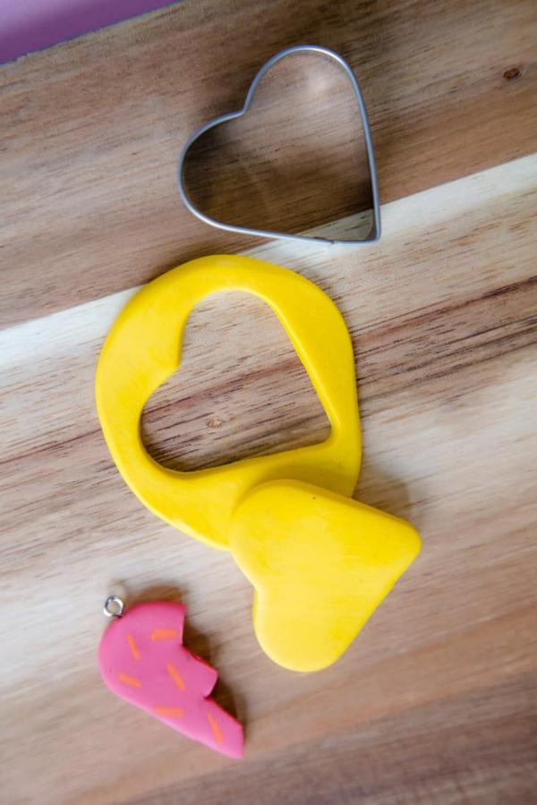 Freundschaftsketten basteln aus Polymer Clay Anleitung Schritt 3