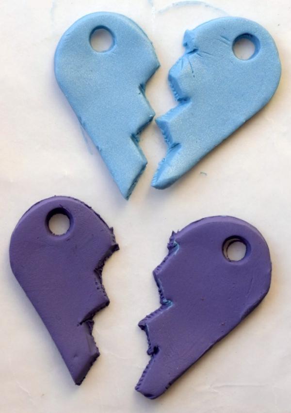 Freundschaftsketten basteln aus Polymer Clay Anleitung