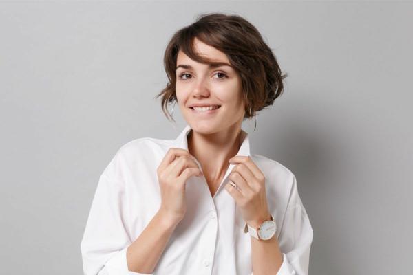 Frisurentrends 2021 Haastylist trendy kurze Frisuren