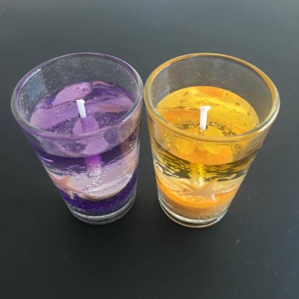 Gelkerzen selber machen Anleitung Gel-Wachs Kerzen