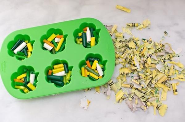 Kleeblatt basteln mit Kindern und Erwachsenen – Ideen und Anleitungen zum St. Patrick's Day wachsmalstifte schmelzen anleitung