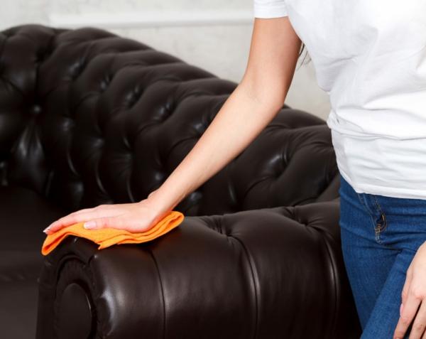 Möbel aus Leder polieren