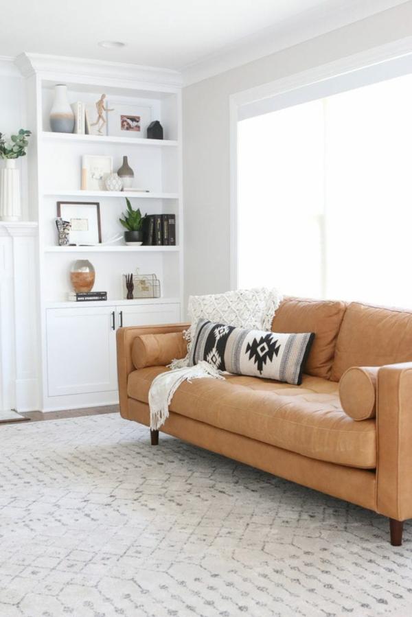 Möbel aus Leder pflegen Tipps und Tricks Wohnzimmer Ledersofa