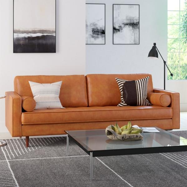 Möbel aus Leder pflegen Tipps und Tricks Wohnzimmermöbel Ledersofa