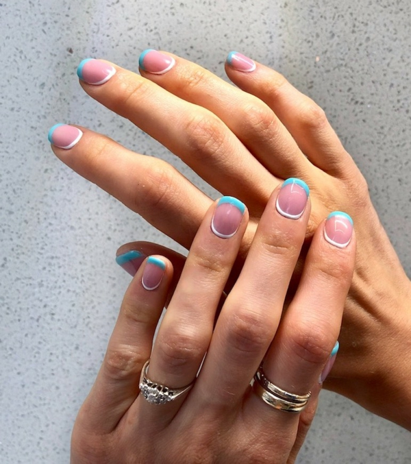 Micro Manicure Nagelstudio Nageltrend Micro French Anleitung