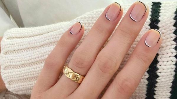 Micro Manicure zu Hause machen Micro French Anleitung