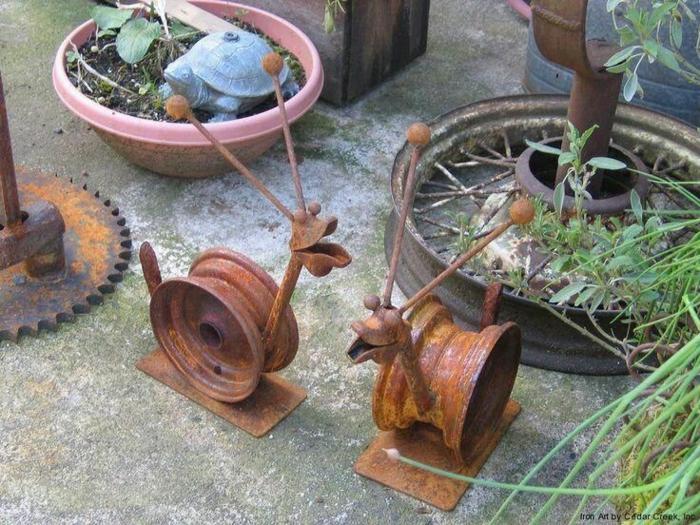 Rostige Gartendeko ideen