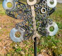 Rostige Gartendeko- 51 DIY Ideen für Schrottkunst