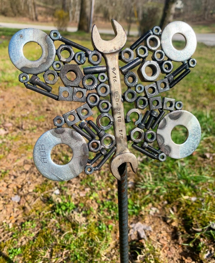 Rostige Gartendeko schmetterling