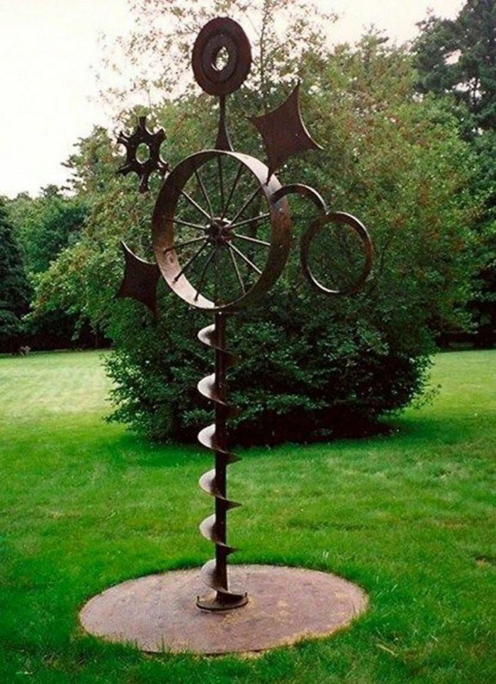Rostige Gartendeko skluptur