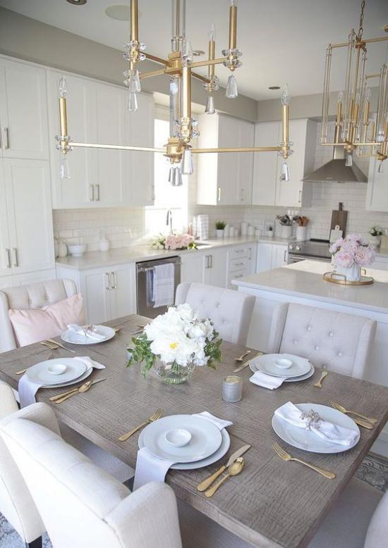 Trends 2021 in der Inneneinrichtung multifunktionale Räume gefragt Küche und Esszimmer in einem moderne Raumgestaltung