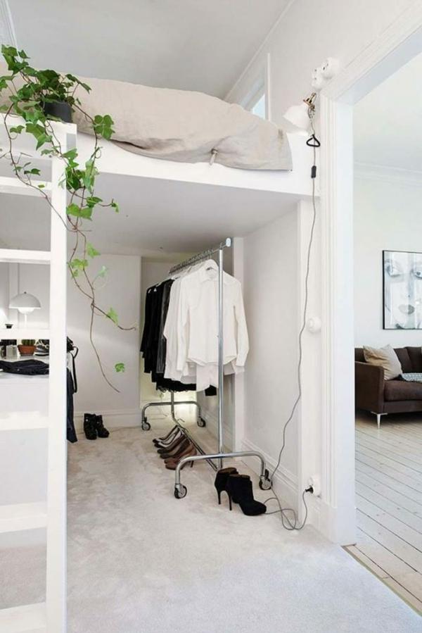 Tumblr Zimmer einrichten Hochbett offener Schrank Schlafzimmergestaltung