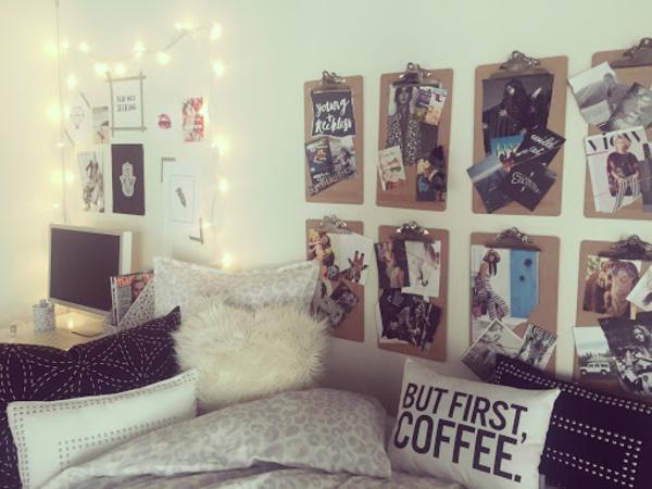 Tumblr Zimmer einrichten Ideen Schlafzimmergestaltung Korktafel