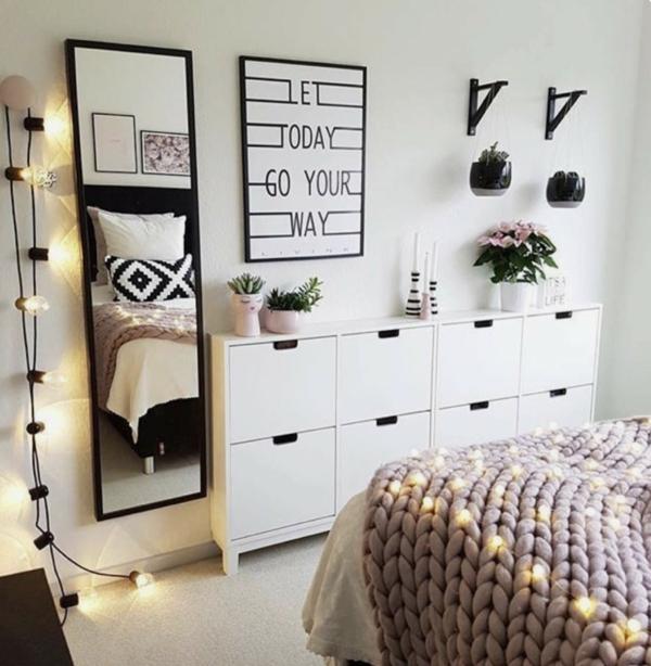 Tumblr Zimmer einrichten Merkmale Schlafzimmer Lichteketten