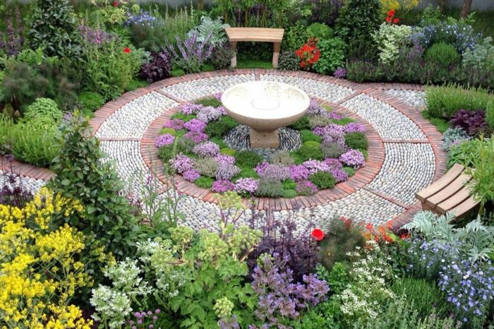 Welche Kräuter passen zusammen kräutergarten anlegen garten grundriss