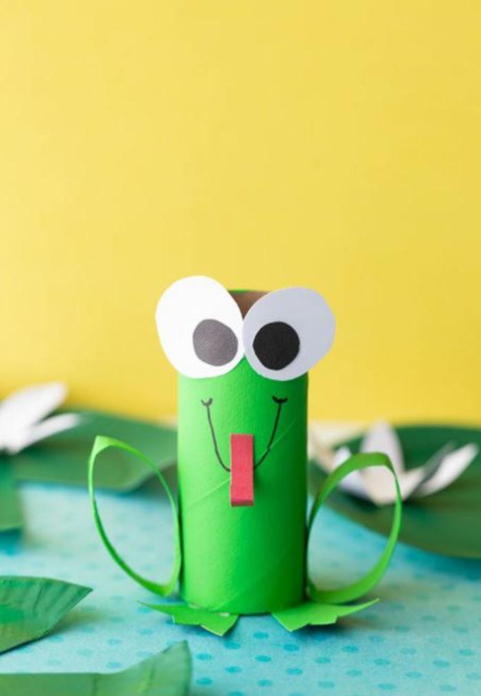 basteln mit kindern im frühling upcycling ideen frosch