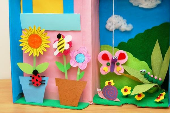 basteln mit kindern im frühling upcycling ideen kinder