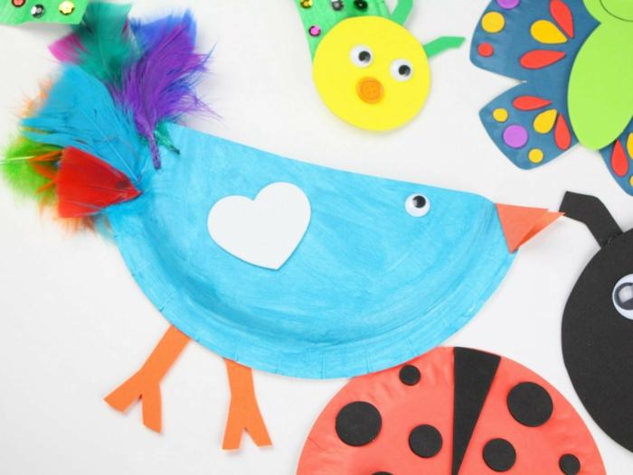 basteln mit kindern im frühling upcycling ideen voegel