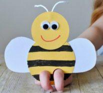Bienen basteln mit Kindern – 45 DIY Ideen und einfache Anleitungen für noch mehr Bastelspaß
