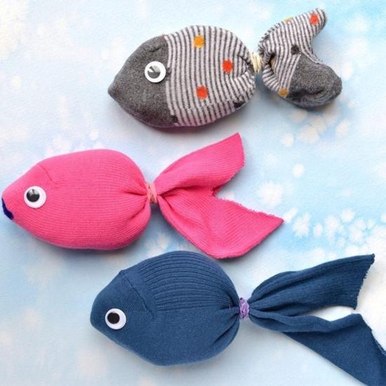 fische sockentiere basteln
