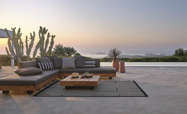gartenlounge einrichten terrasse gartensitzecke