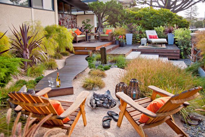 kleinen Garten gestalten klar definierte Zonen perfekter Outdoor-Bereich Relax pur