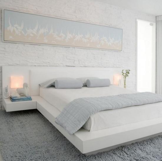 kleines Schlafzimmer optisch erweitern stilvolle Raumgestaltung voller Ästhetik helle Farben dezente Beleuchtung