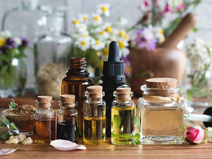 Kräuter für die Atemwege zitrone und aromaoel