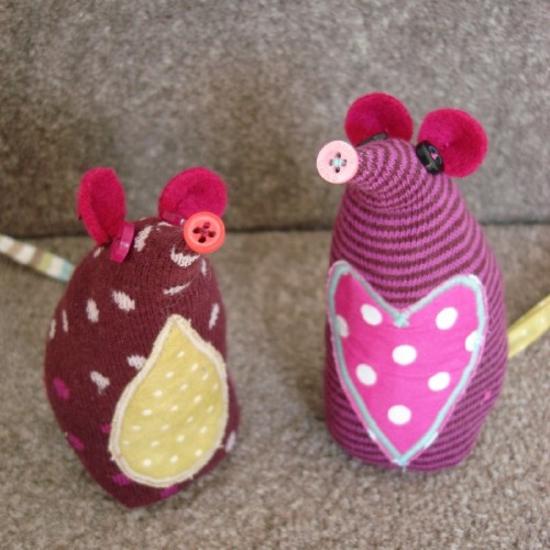 mäuse sockentiere basteln
