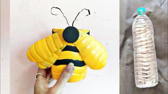 pet flaschen bienen basteln
