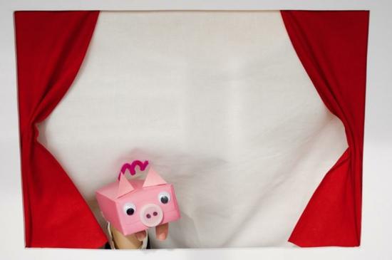 schweinchen aus tetrapack handpuppen selber machen
