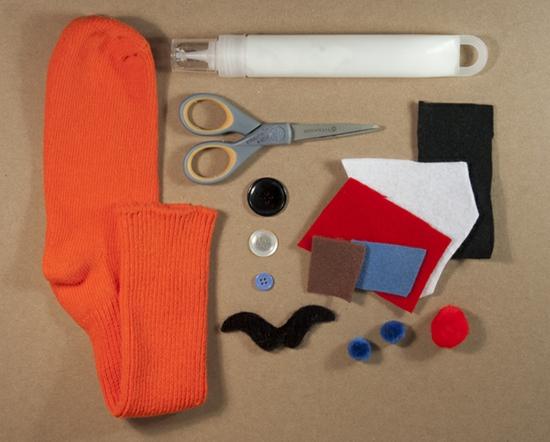 sockentiere materialien handpuppen selber machen