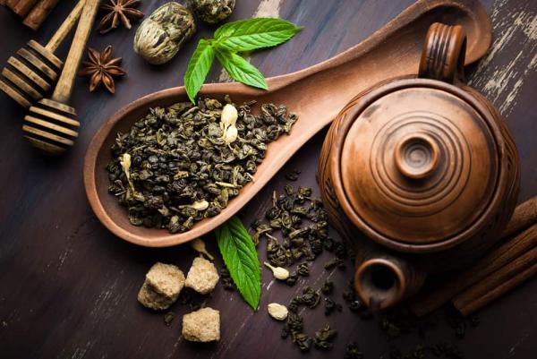 vitalisierende Tees Teeblätter darin steckt viel Energie gesund und nützlich