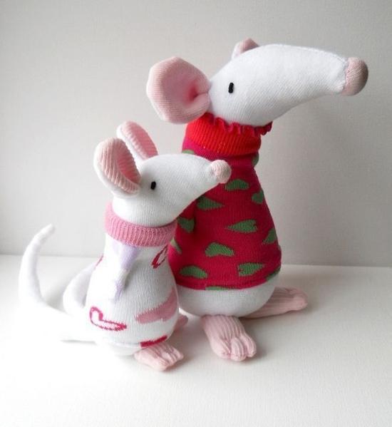 weiße ratten sockentiere basteln
