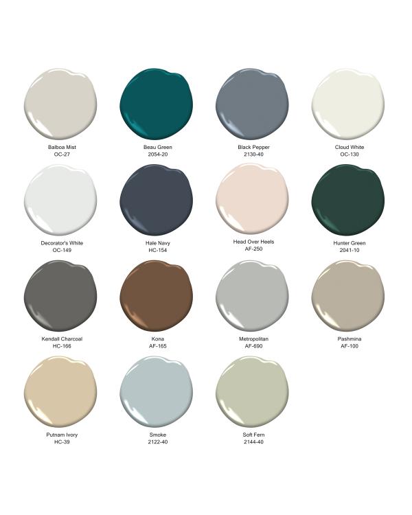 Aktuelle Wandfarben Pastelltöne zur Auswahl reiche Farbpalette