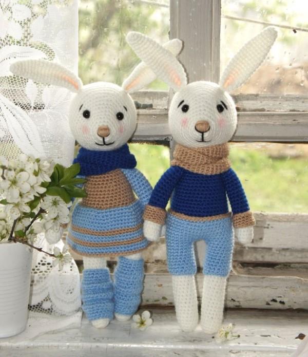 Amigurumi Hase häkeln – Ideen für Ostern zum Inspirieren und Nachmachen hase freunde mädchen junge