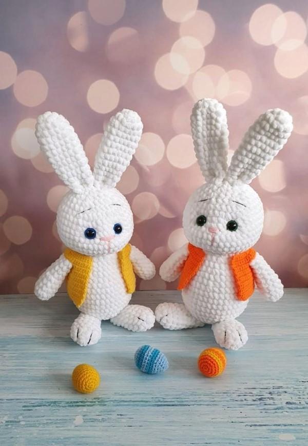 Amigurumi Hase häkeln – Ideen für Ostern zum Inspirieren und Nachmachen kleine chibi hasen