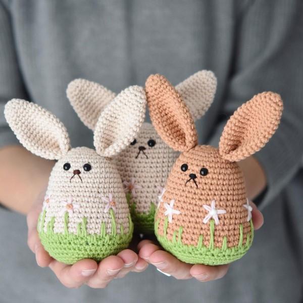 Amigurumi Hase häkeln – Ideen für Ostern zum Inspirieren und Nachmachen lustige winzige osterhase