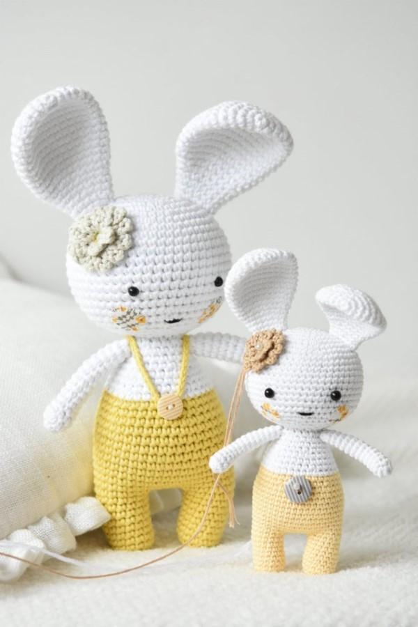 Amigurumi Hase häkeln – Ideen für Ostern zum Inspirieren und Nachmachen osterhase süß klein groß