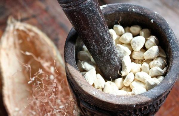 Baobab-Frucht und Pulver Superfrucht aus Afrika
