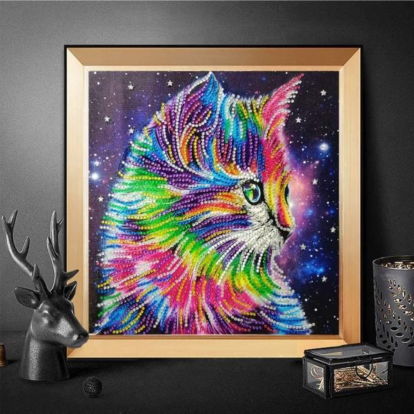 Diamond Painting – der Trend, der gegen Stress wirkt buntes kätzchen katze