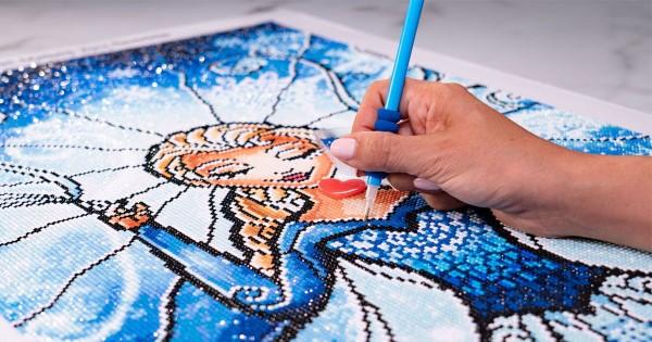 Diamond Painting – der Trend, der gegen Stress wirkt elsa frozen