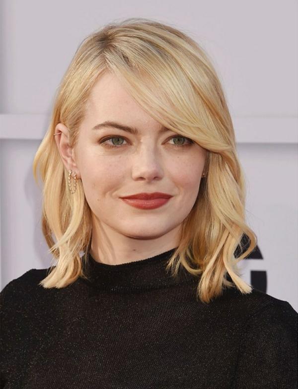 Frisuren für runde Gesichter Berühmtheiten Trendfrisuren