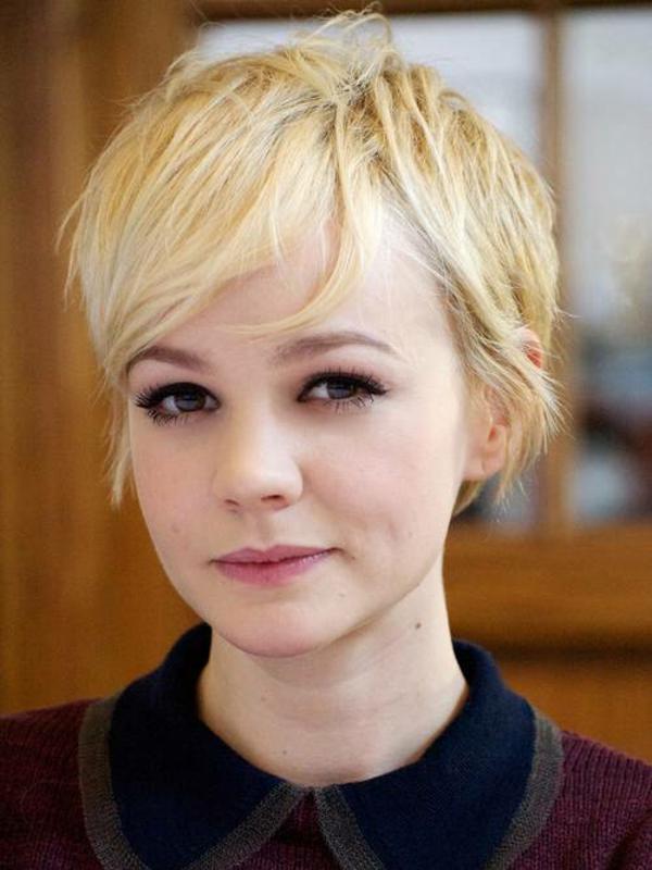 Frisuren für runde Gesichter Kurzhaarschnitte Celebrities