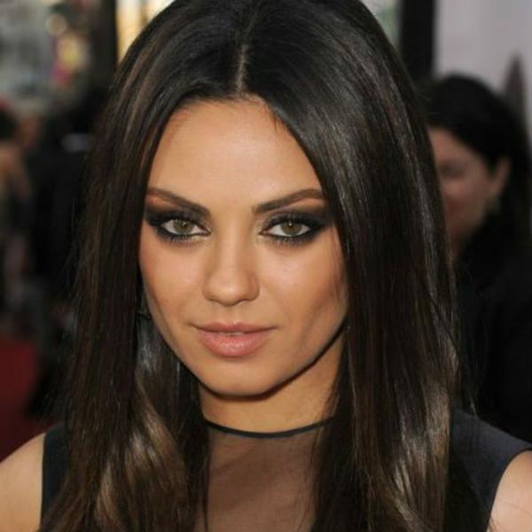 Frisuren für runde Gesichter Mila Kunis Trendfrisuren