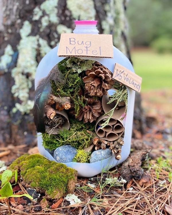 Insektenhotel basteln und den Frühlingsgarten mit freudigen Summen erfüllen ideen diy schön praktisch