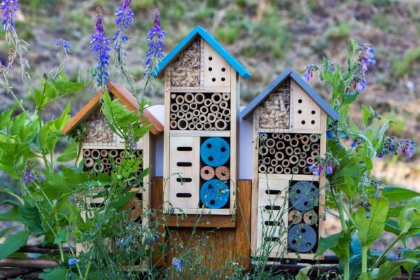 Insektenhotel basteln und den Frühlingsgarten mit freudigen Summen erfüllen insekten hotel unterkunft