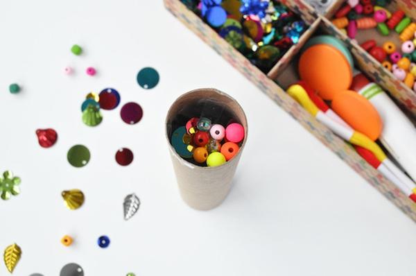 Kaleidoskop basteln Basteln mit Kindern Anleitung