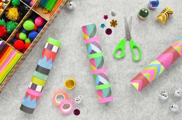 Kaleidoskop basteln Basteln mit Kindern